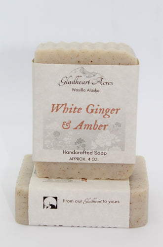 White Ginger & Amber Soap