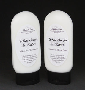 White Ginger & Amber Lotion