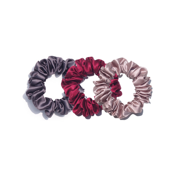 """Roses are Red"" Satin Silk Scrunchie Set"