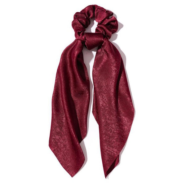 """Burgundy"" Scrunchie Scarf"