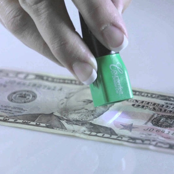 Dri Mark Dual Test Counterfeit Detection Pen with UV LED Light