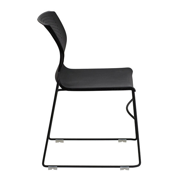 Flash Furniture HERCULES Series 661 lb. Capacity Black Full Back Stack Chair