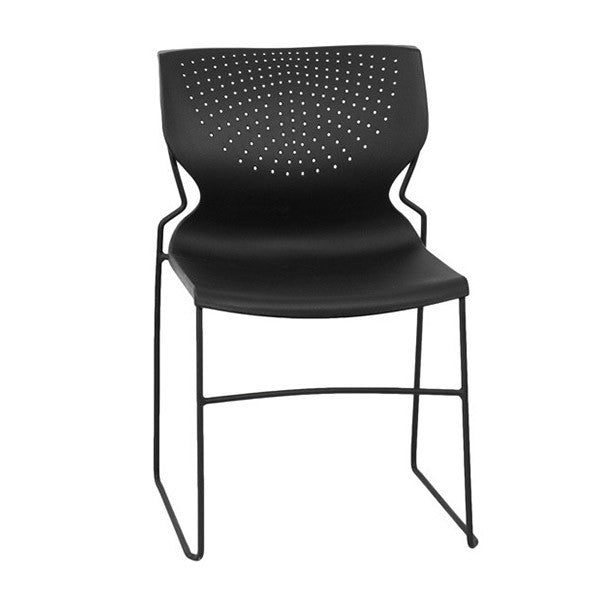 Capacity Black Full Back Stack Chair Flash Furniture HERCULES Series 661  Lb. Capacity Black Full Back Stack Chair ...