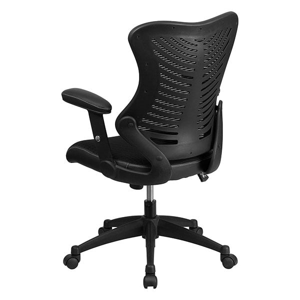 Flash Furniture High Back Black Mesh Chair with Nylon Base
