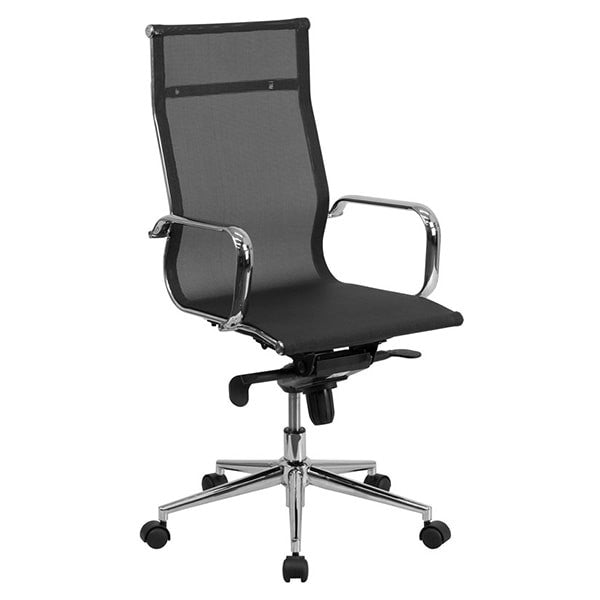 Flash Furniture High Back Black Mesh Executive Swivel Office Chair with Synchro-Tilt Mechanism