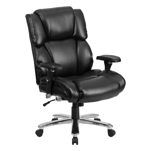 HERCULES Series 24/7 Intensive Use, Multi-Shift, Big & Tall Black Leather Executive Chair