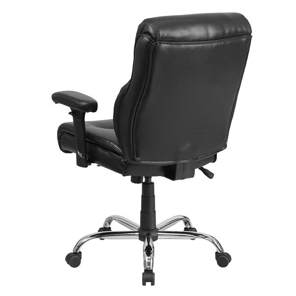 ... HERCULES Series Big u0026 Tall Black Leather Task Chair with Height Adjustable ...  sc 1 st  iTestCash.com & HERCULES Series Big u0026 Tall Black Leather Task Chair with Height ...
