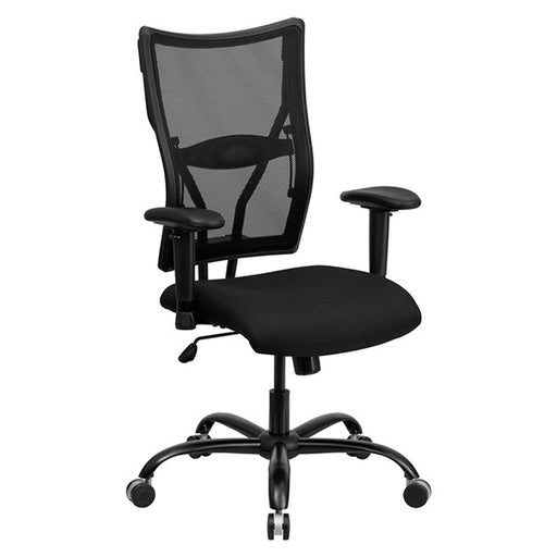 HERCULES Series Big & Tall Black Mesh Office Chair with Arms