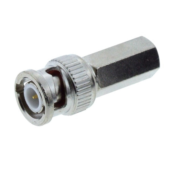 RG59 BNC Connector, Male BNC Twist-On Connector for RG-59 Coax Cable