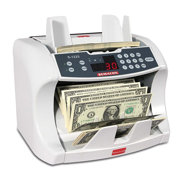 Semacon S-1225 Bank Grade Currency Counter with UV & MG Counterfeit Detection