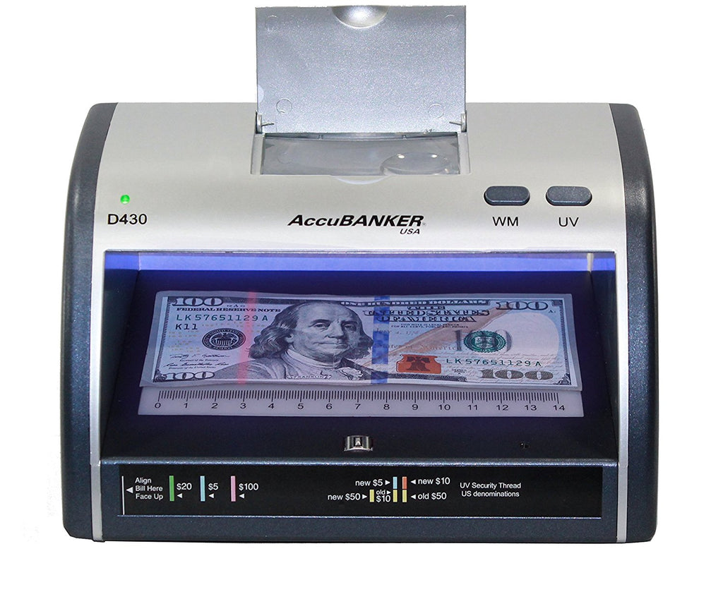 Accubanker Led430 Counterfeit Bill Amp Card Detector 110v