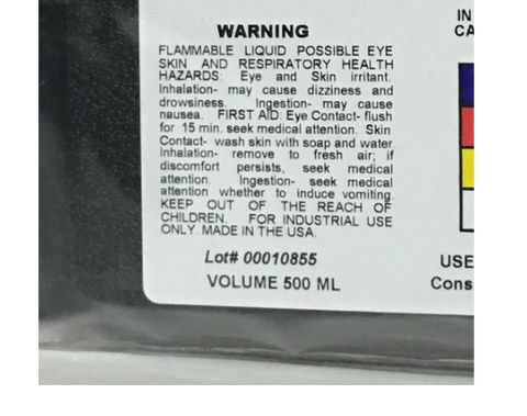 Squid Ink Warning Label