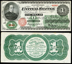 "Image of a dollar ""Greenback"", first issued in 1862."
