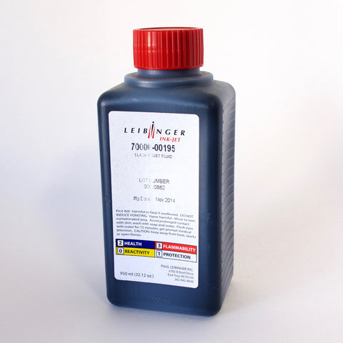 Leibinger Black Inkjet Fluid Ink (950 ml) 70000-00195