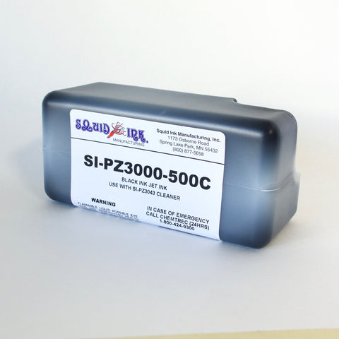 Squid Ink Lactate Based Ink 500 ml Cartridge Black SI-PZ3000-500C