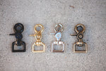 Load image into Gallery viewer, brass hardware in black, brass, silver, and antique brass