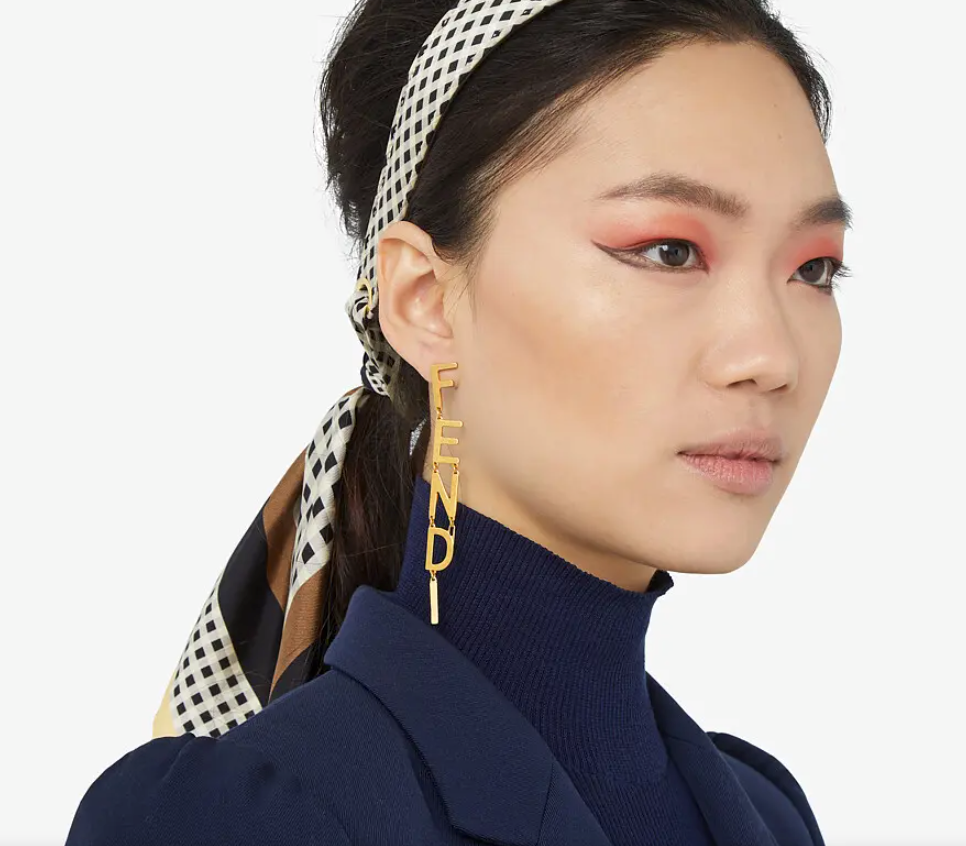 F*ndi Signature Earrings