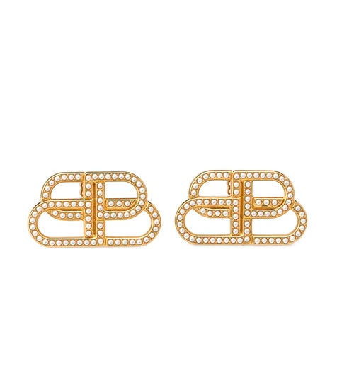 Balenc*aga XS Pearl Stud Earrings