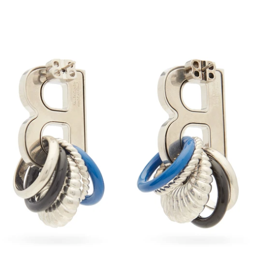 Balenc*aga Multirings XL Earrings