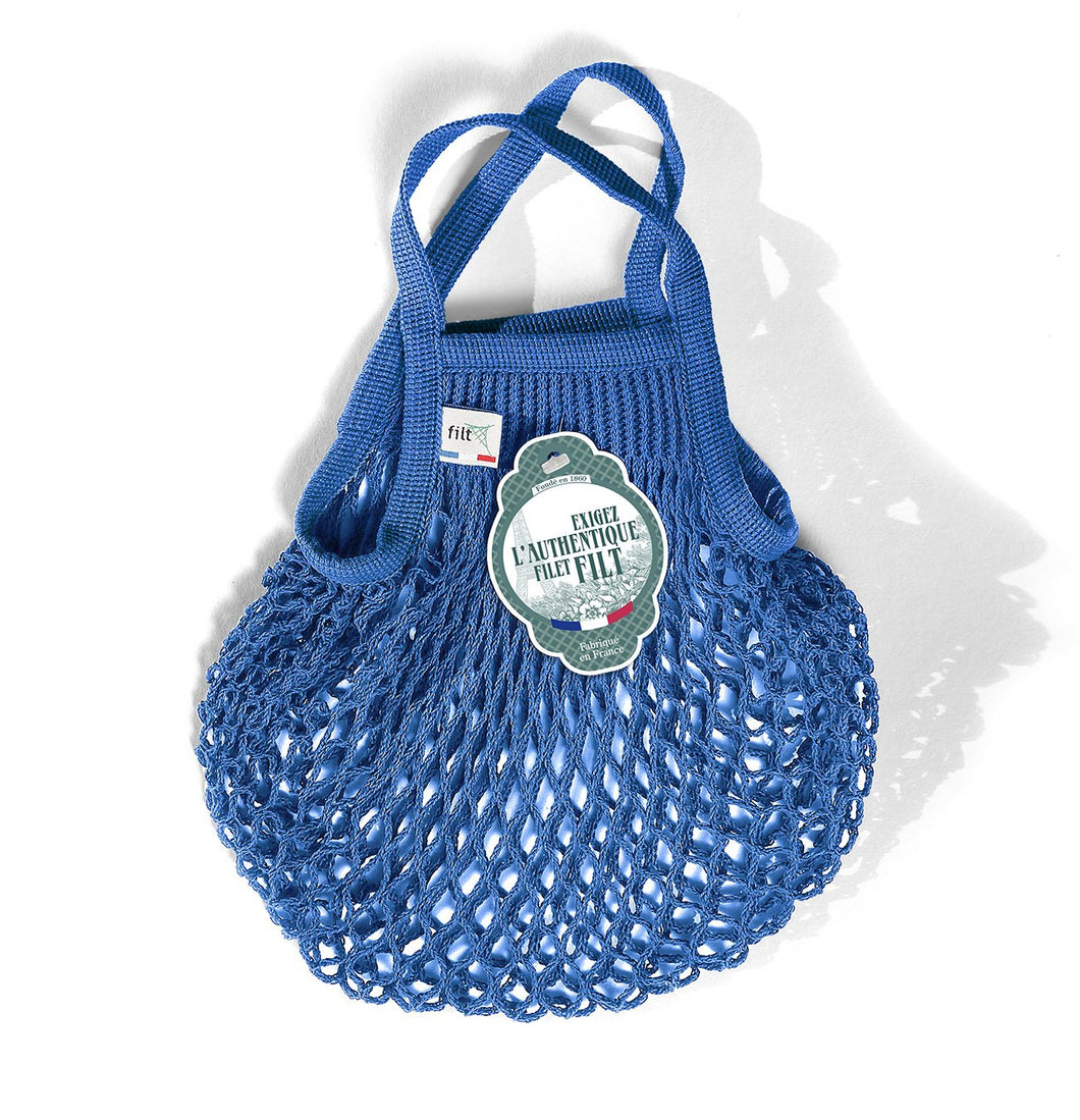 Filt French Market Tote Bag Small in Bright Blue (Set of 2)