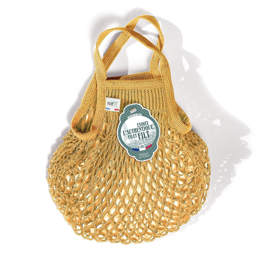 Filt French Market Tote Bag Small in Gold (Set of 2)
