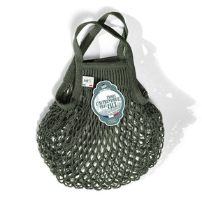 Filt French Market Tote Bag Small in Olive Green (Set of 2)
