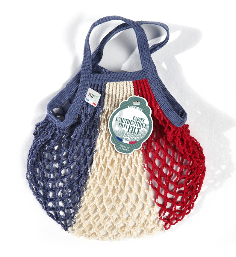Filt French Market Tote Bag Small in Red, White, and Blue (Set of 2)