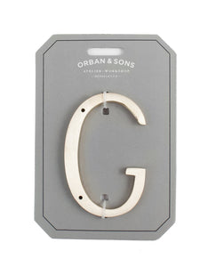 "Orban & Sons Brass Letter ""G"" (Set of 3)"