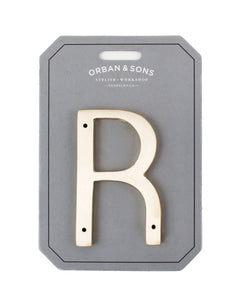 "Orban & Sons Brass Letter ""R"" (Set of 3)"