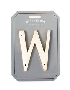 "Orban & Sons Brass Letter ""W"" (Set of 3)"