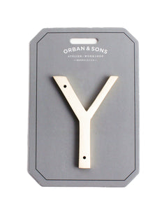 "Orban & Sons Brass Letter ""Y"" (Set of 3)"