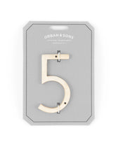 "Load image into Gallery viewer, Orban & Sons Brass Number ""5"" (Set of 3)"