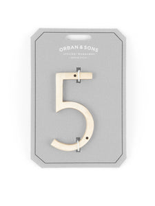 "Orban & Sons Brass Number ""5"" (Set of 3)"