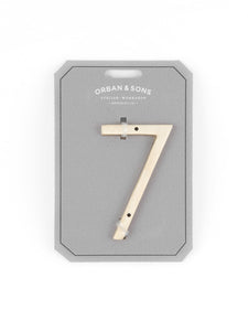 "Orban & Sons Brass Number ""7"" (Set of 3)"