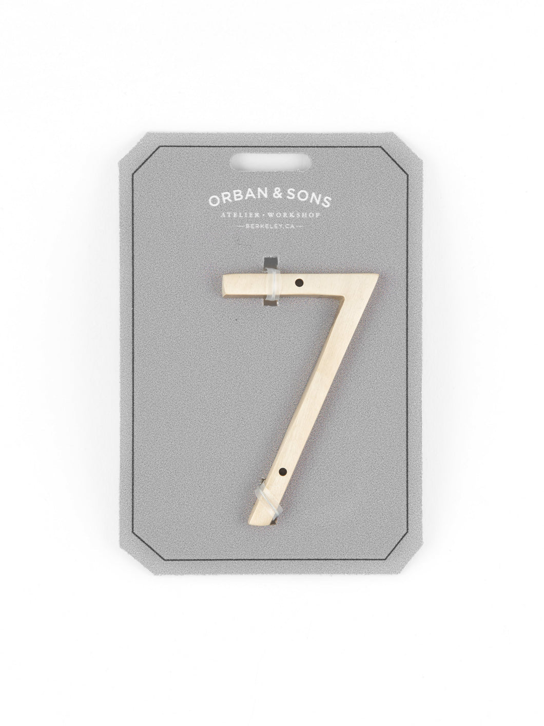 Orban & Sons Brass Number