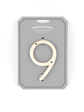 "Load image into Gallery viewer, Orban & Sons Brass Number ""9"" (Set of 3)"