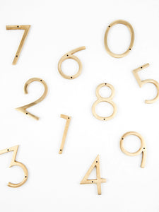 "Orban & Sons Brass Number ""8"" (Set of 3)"