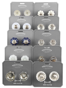 Orban & Sons Clear Flower Knobs (Set of 4)