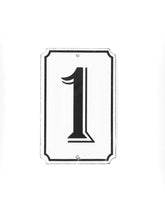 "Load image into Gallery viewer, Orban & Sons Enamel Number ""1"" Sign (Set of 3)"