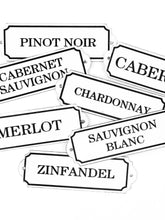 "Load image into Gallery viewer, Orban & Sons Enamel ""Pinot Noir"" Sign (Set of 4)"