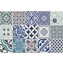 Load image into Gallery viewer, Beija Flor Blue Eclectic Placemat (Set of 4)