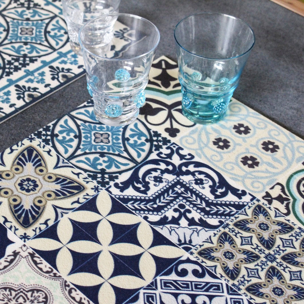 Beija Flor Blue Eclectic Placemat (Set of 4)