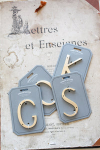"Orban & Sons Brass Letter ""S"" (Set of 3)"