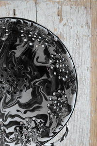 Orban & Sons Black & White Swirl Enamel Colander
