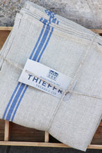 "Load image into Gallery viewer, Thieffry Blue Monogramme Linen Tablecloth (68"" x 110"")"