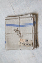 "Load image into Gallery viewer, Thieffry Blue Monogramme Linen Dish Towel (28"" x 20.5"")"