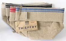 Load image into Gallery viewer, Thieffry Red Monogramme Linen Bread Bag