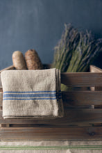 "Load image into Gallery viewer, Thieffry Blue Monogramme Linen Napkin (21"" x 20"") - Set of 2"