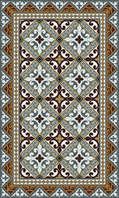 Load image into Gallery viewer, Beija Flor Brown Fleur de Lys Floor Mat