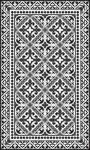 Load image into Gallery viewer, Beija Flor Black Fleur de Lys Floor Mat